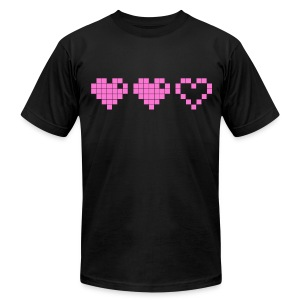 2 Lives Left - Pink - Men's T-Shirt by American Apparel