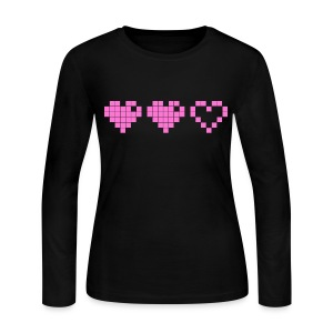 2 Lives Left - Pink - Women's Long Sleeve Jersey T-Shirt