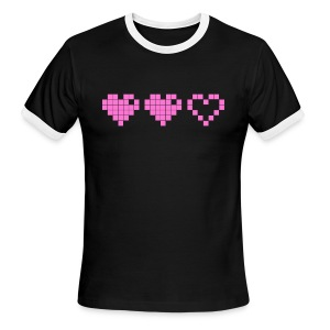 2 Lives Left - Pink - Men's Ringer T-Shirt