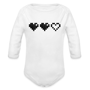2 Lives Left - Black - Long Sleeve Baby Bodysuit