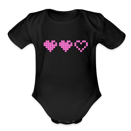 2 Lives Left - Pink - Organic Short Sleeve Baby Bodysuit