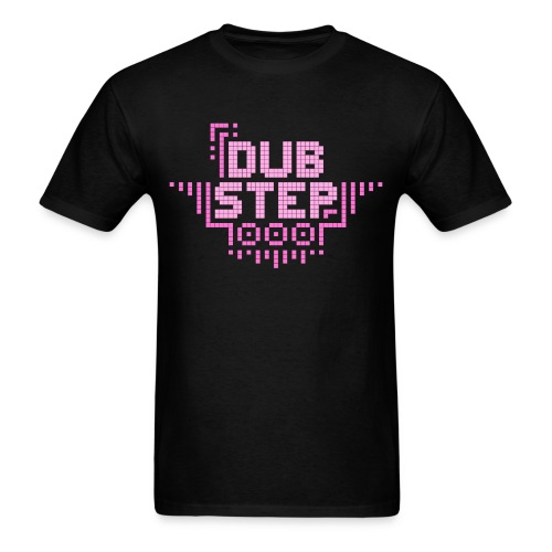 DUBSTEP Pixels - Pink - Men's T-Shirt