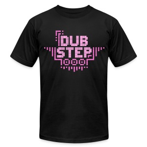 DUBSTEP Pixels - Pink - Men's T-Shirt by American Apparel