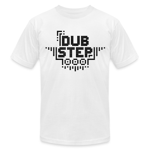 DUBSTEP Pixels - Black - Men's Fine Jersey T-Shirt