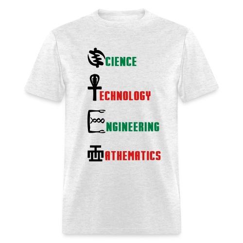 STEM African Symbols - Men's T-Shirt