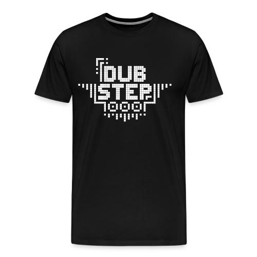 DUBSTEP Pixels - White - Men's Premium T-Shirt