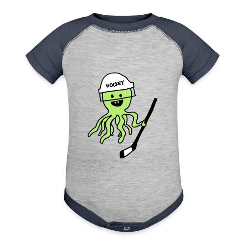 Hockey Octopus Baby   Contrast - Contrast Baby Bodysuit