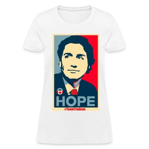 Justin Trudeau brings Hope - Women's T-Shirt