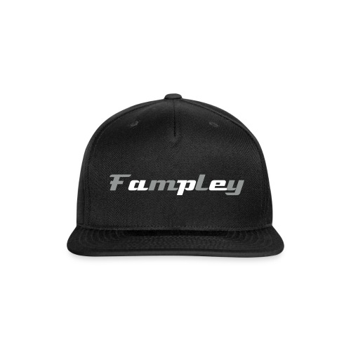 Fampley Hat (Text) - Snap-back Baseball Cap