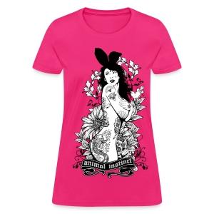 Tattooed Bunny Girl - Animal Instinct - Women's T-Shirt