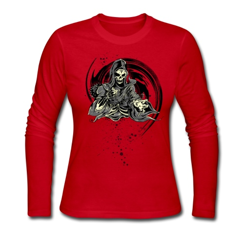 Grim Reaper - Women's Long Sleeve Jersey T-Shirt