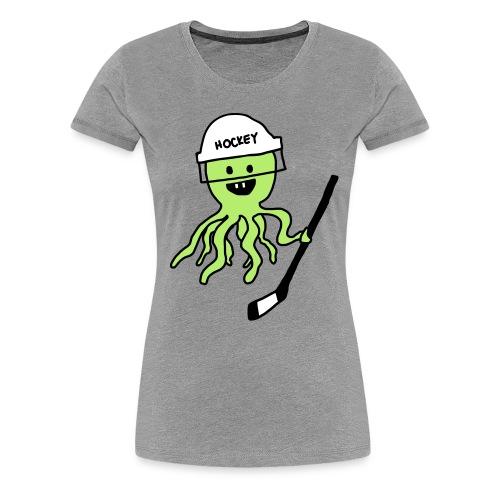 Hockey Octopus Women's T-Shirt - Women's Premium T-Shirt