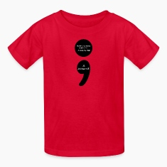 Semicolon:  LIVE...that is the Secret to LIFE! Kids' Shirts