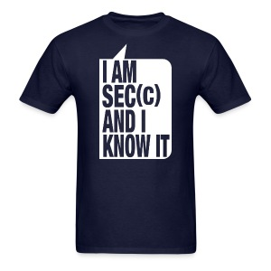 I'm sec(c) and I know it blue - Men's T-Shirt