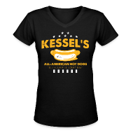 Women's T-Shirts ~ Women's V-Neck T-Shirt ~ Kessel's All-American