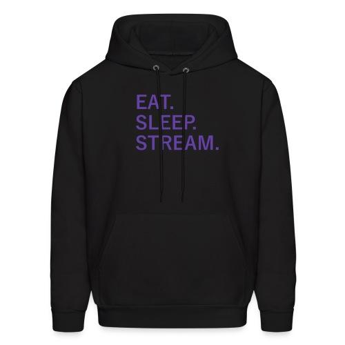 EAT. SLEEP. STREAM. Male Hoodie - Men's Hoodie