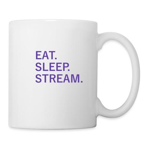 EAT. SLEEP. STREAM. Mug[Left Hand] - Coffee/Tea Mug
