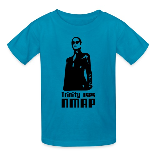 Trinity uses Nmap - Kids' T-Shirt