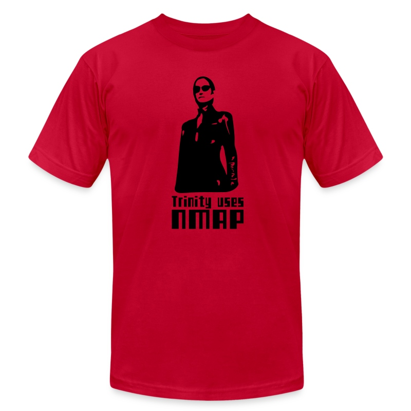 Trinity uses Nmap - Men's Fine Jersey T-Shirt