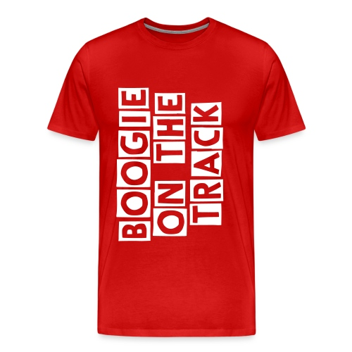 Boogie On The Track, Tee Red - Men's Premium T-Shirt