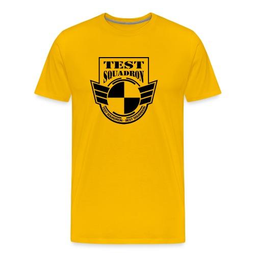 Big logo shirt - yellow - Men's Premium T-Shirt