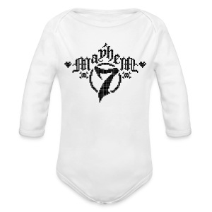 MayheM-7 - Pixel 1 B - Long Sleeve Baby Bodysuit