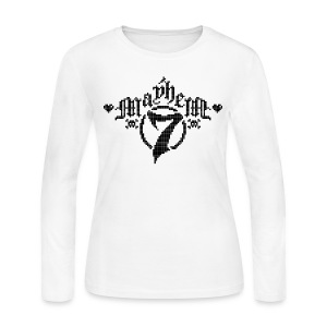 MayheM-7 - Pixel 1 B - Women's Long Sleeve Jersey T-Shirt