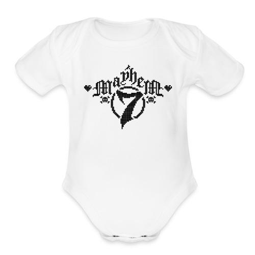 MayheM-7 - Pixel 1 B - Organic Short Sleeve Baby Bodysuit