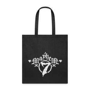 MayheM-7 - Pixel 1 W - Tote Bag