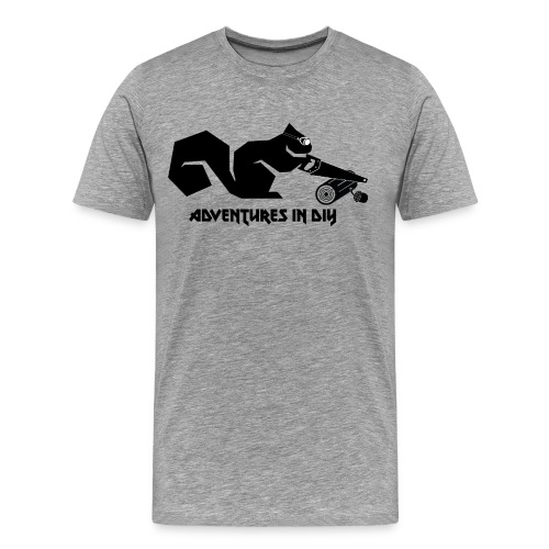 Adventures In DIY - Woodworking Squirrel - Men's Premium T-Shirt