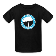 Kids' Shirts ~ Kids' T-Shirt ~ Tee: Turquoise Logo on Black (Child Sizes)