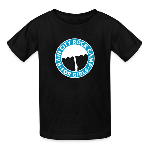 Tee: Turquoise Logo on Black (Child Sizes) - Kids' T-Shirt