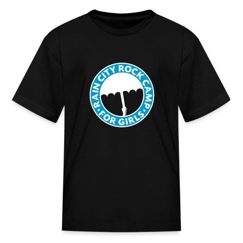 Tee: Turquoise Logo on Black (Child Sizes) - Kids' T-Shirt
