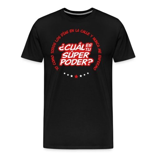 Súper en negro - Men's Premium T-Shirt
