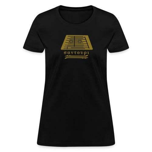 women's - santouri - metallic gold on black T - Women's T-Shirt