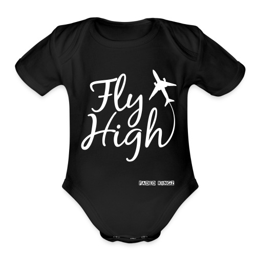 FLY HIGH (Baby Short sleeve one piece) - Organic Short Sleeve Baby Bodysuit