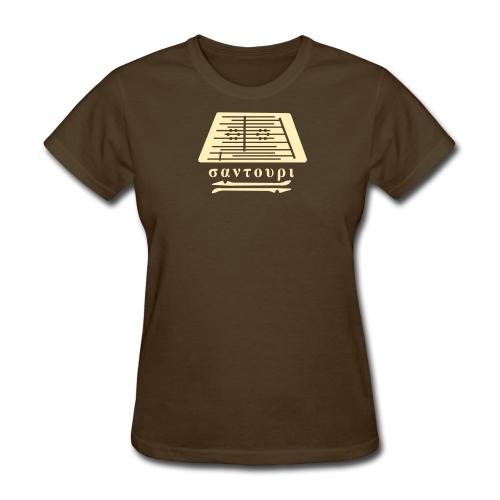 women's - santouri - cream on DARK T - Women's T-Shirt