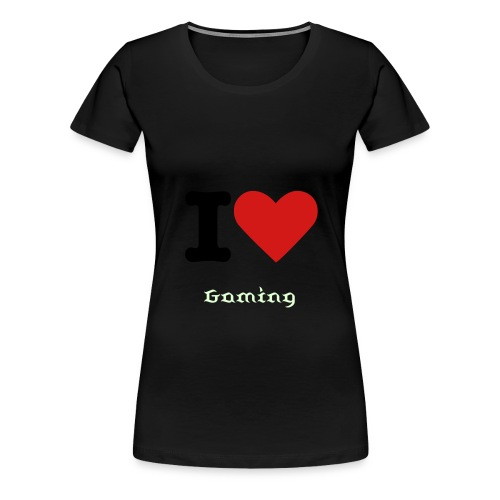 I Heart Gaming Women's Tee - Women's Premium T-Shirt