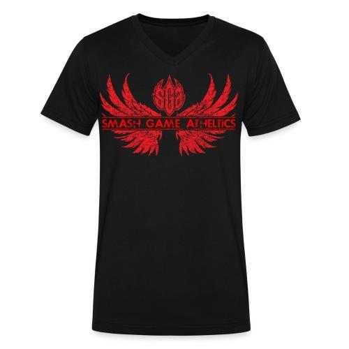 SmashGame Men's Wings of Glory V Neck Tee - Men's V-Neck T-Shirt by Canvas