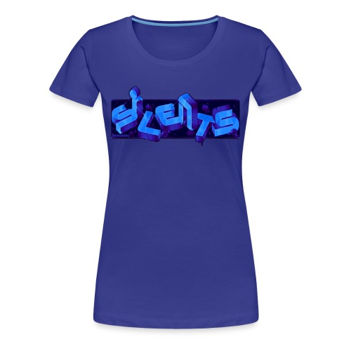 Silents Pixel Logo - Women's Premium T-Shirt