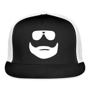 white/black hangover truckers hat netted back - Trucker Cap