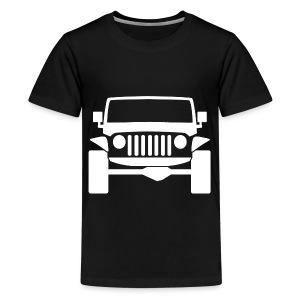 jeep white/black mens shirt - Kids' Premium T-Shirt