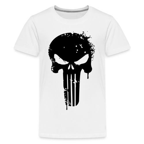 kids white/black punisher shirt - Kids' Premium T-Shirt
