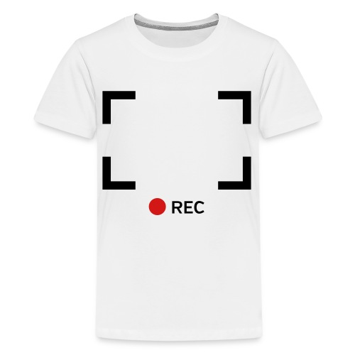 kids white/black recording shirt - Kids' Premium T-Shirt