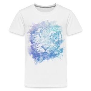abstract lion purple/blue/white mens shirt - Kids' Premium T-Shirt