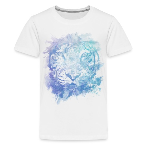 abstract lion purple/blue/white mens shirt - Kids' Premium T-Shirt