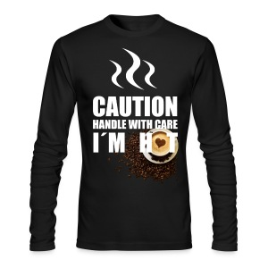 Caution I'm Hot - Men's Long Sleeve T-Shirt by Next Level
