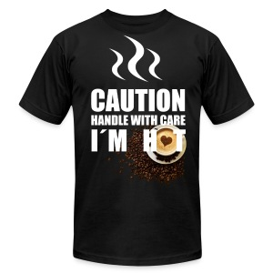 Caution I'm Hot - Men's T-Shirt by American Apparel