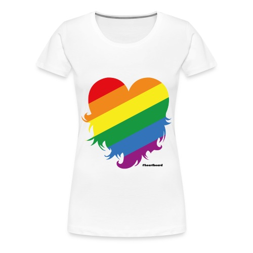 Heartbeard goes Pride - Women - Women's Premium T-Shirt