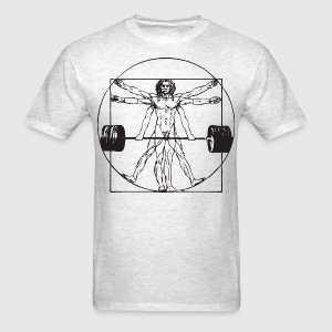 Vitruvian Barbell Man T-Shirts - Men's T-Shirt
